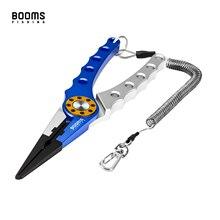Booms Fishing X01 Alicates de pesca de aluminio con cordón de bobina y funda