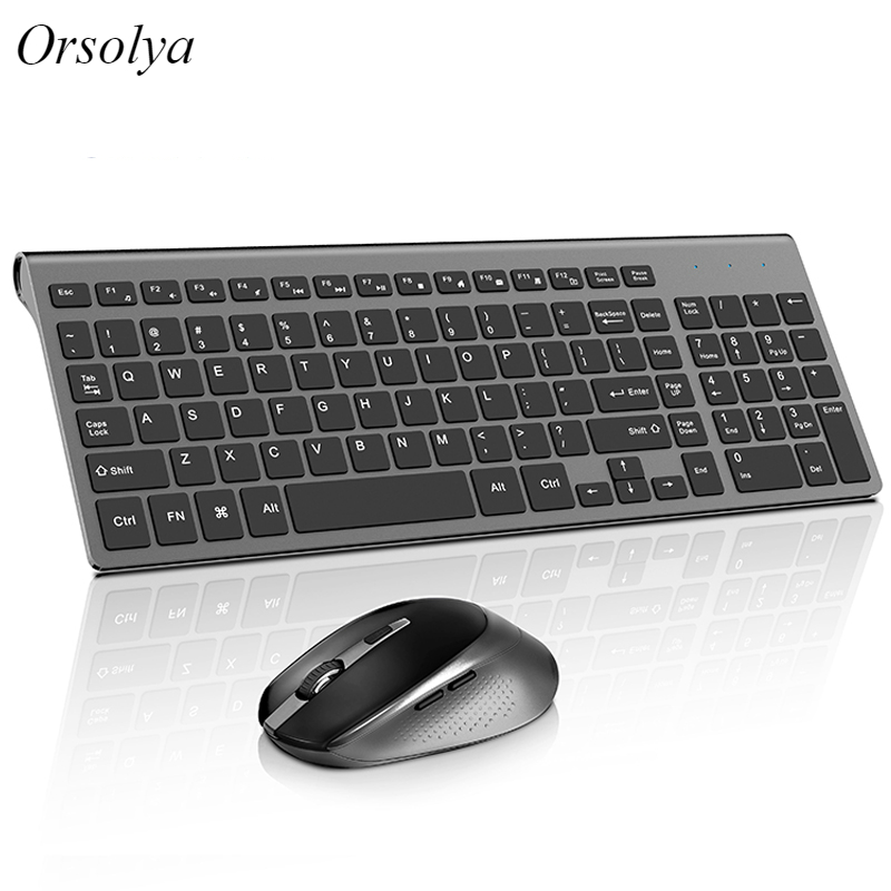 Wireless Keyboard And Mouse Set Computer Mice Silent Button Keyboard And Mouse Combo 2.4G For Laptop Computer Desktop PC