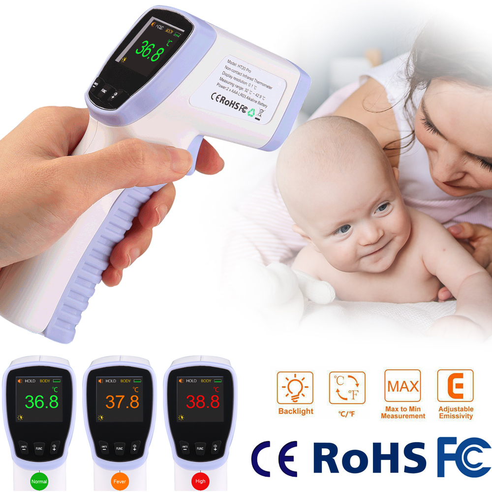 2020 Medical Infrared Thermometer Forehead Baby Portable Non-contact child Handheld Body/Object Temperature Measure IR Device