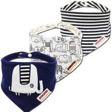 3 шт./партия, детские нагрудники, модные водонепроницаемые детские нагрудники для новорожденных девочек и мальчиков, хлопковые треугольные Детские аксессуары для кормления