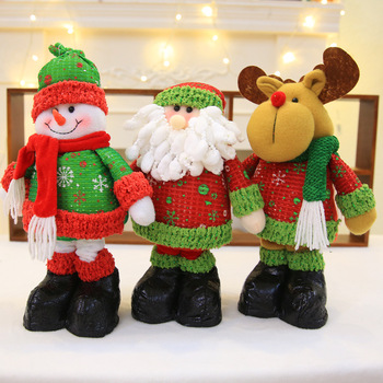 New Christmas Standing Stretching Doll Doll Children's Toy Snowman Old Man Plush Doll Decoration christmas decoration old man snowman elk christmas gift small pendant plush doll christmas tree pendant decoration