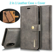 2 in 1 Cover For Samsung Galaxy A10 A20 A30 A40 A50 A70 A30S A50S Real Leather Case Detachable Flip Wallet Skin Book A51 A71 Bag