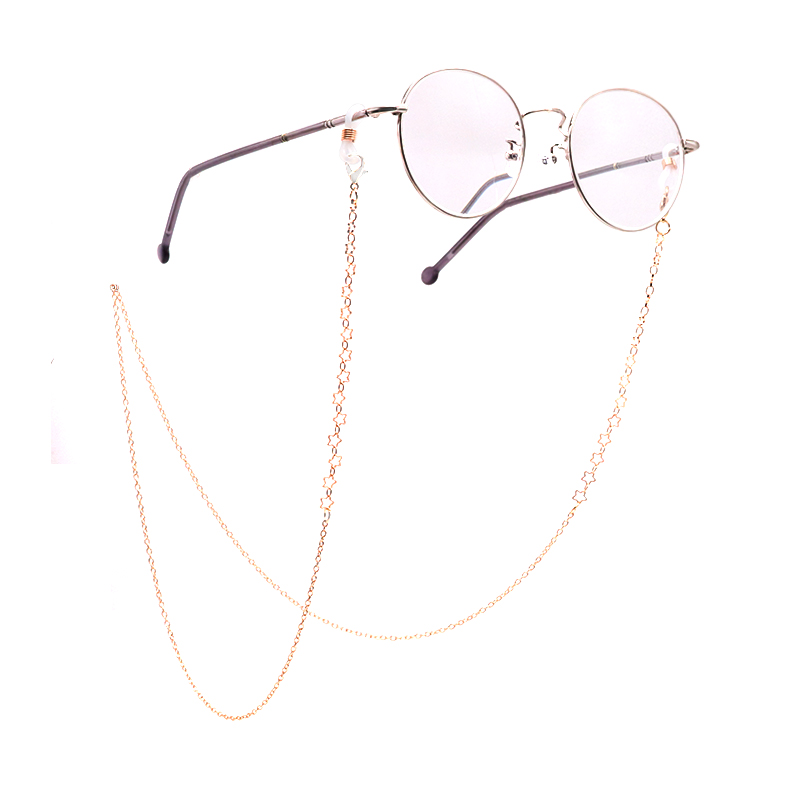 Colour_Max Fashion Chic Gold Silver Eyeglass Chains Sunglasses Reading  Glasses Chain Eyewears Acrylic Beads Chains