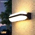 Современный белый светодиодный настенный светильник для сада  наружное освещение  водонепроницаемая алюминиевая настенная лампа для крыл...