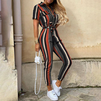 Casual Short Sleeve Rompers Jumpsuit 1