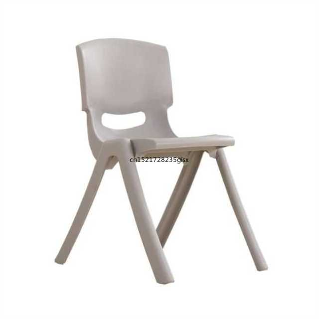 Plastic Learning Chair Cheap Writing Chair Backrest Household Children Stool Dining Chair 35/40/43 Height Strong Bearing