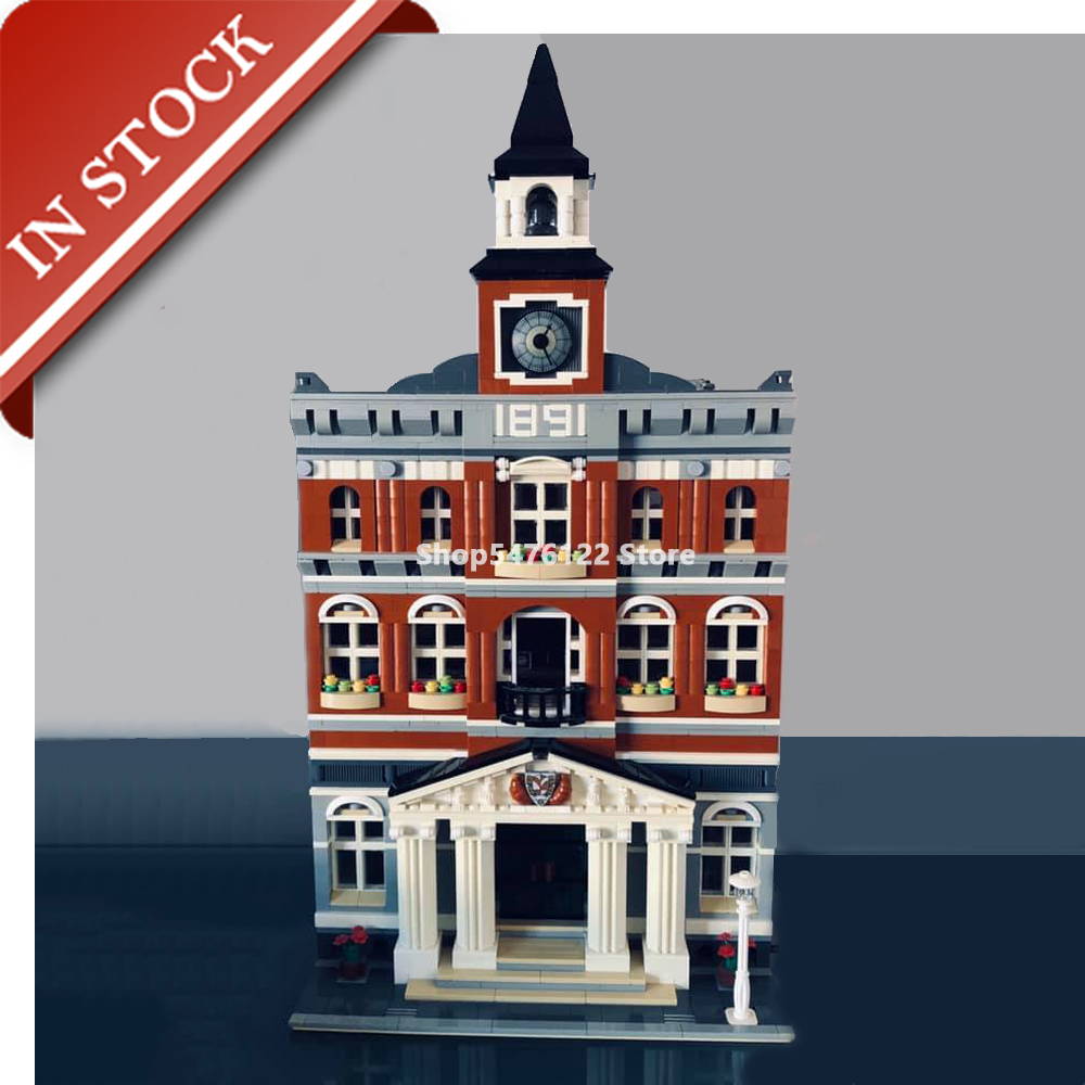 Street View Town Hall 10224 15003 In Stock Building Blocks 2700+Pcs Creator Expert Bricks Construction Set Out Of Print