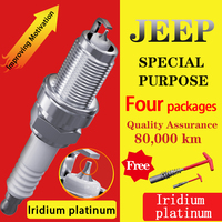 4pcs/ Suitable for Liberty Grand Cherokee RATRIOT COMPASS Renegade JEEP Iridium platinum Spark plug