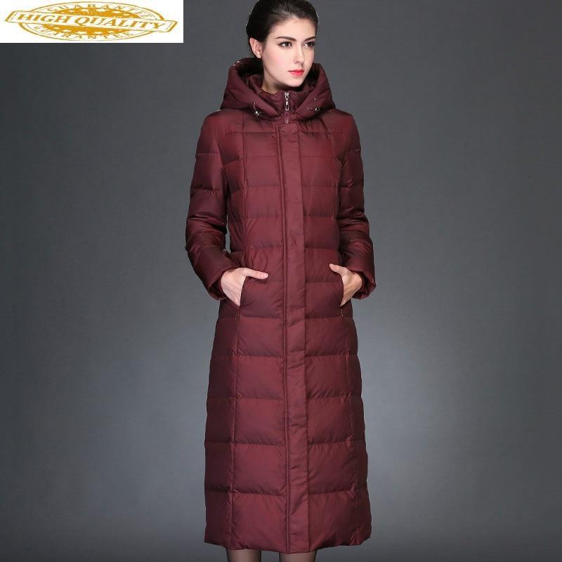 Long Coat 90% Duck Down Jacket For Women Winter 2020 Plus Size Ladies Coats Warm Black Parkas Casacas Para Mujer KJ555