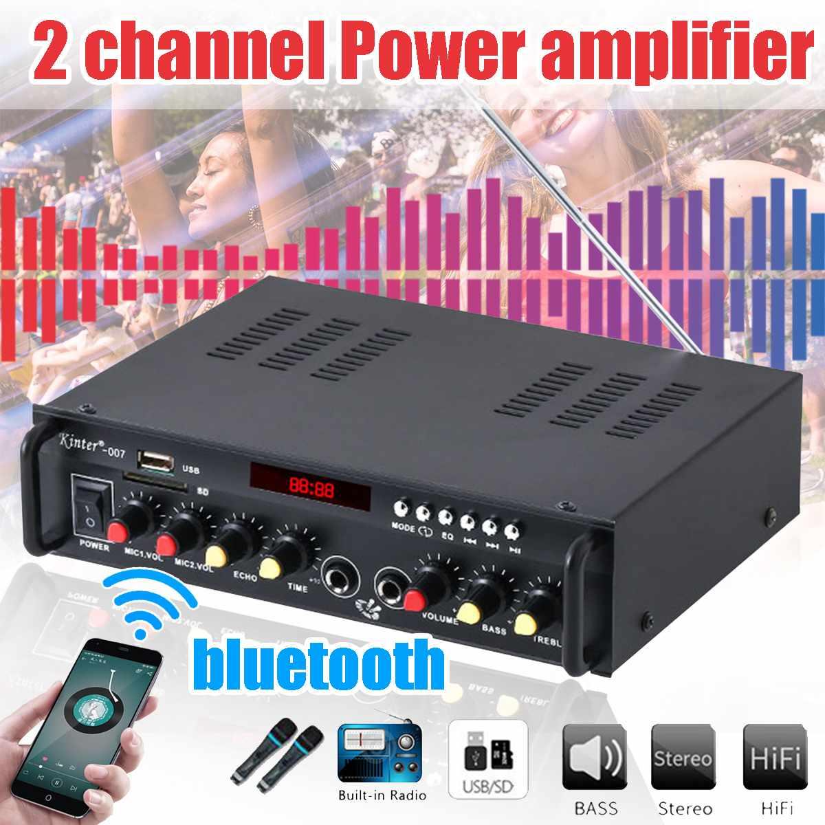 12/220V 2CH HIFI Digital bluetooth Auto Audio Power Verstärker Verstärker Hause Auto FM Radio Stereo Musik Player w/Fernbedienung