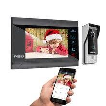 TMEZON Tuya App portero automático para hogar sistema inalámbrico WiFi inteligente timbre de Video de IP 1080P 7 pulgadas con 1x1080P con cable de la puerta teléfono cámara