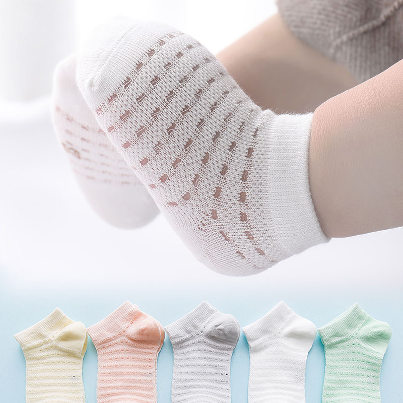 5Pairs/lot Summer Mesh Socks For Newborns Baby Cute Cartoon Socks For Kids Girls Thin Soft Cotton Boy Child Socks Infants