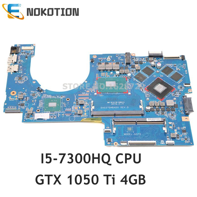 NOKOTION 915468-601 915468-001 DAG37DMBAD0 For HP Pavilion 17-AB 17-W series Laptop motherboard GTX 1050 Ti 4GB I5-7300HQ DDR4 image