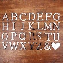 Симпатичные Алфавит настенные наклейки для зеркала в творческое
