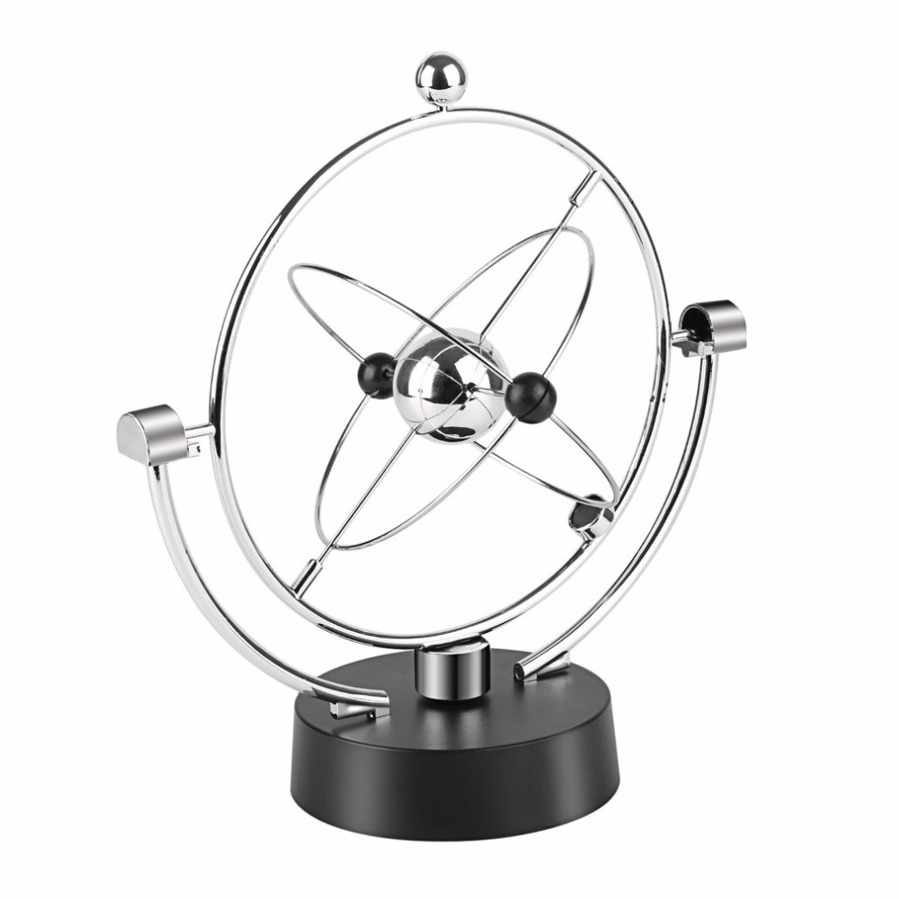 Home-Ornaments Desk-Decoration Globe Kinetic Perpetual-Balance Orbital-Craft Newton Pendulum title=