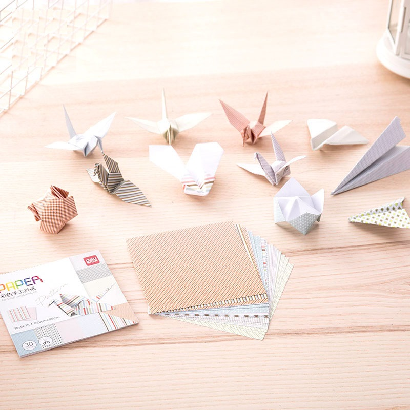 30Sheets 10Patter Handmade Materials Paper Crane Gift Packaging Materials Origami Paper Flower Square Scrapbook Papers Cutting