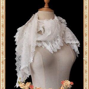Image 2 - Uroczy biały Lolita koronkowy szal długie damskie szale od Infanta