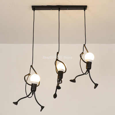 錬鉄製のクリエイティブ悪役器具 suspendu ペンダントリビングルームのベッドルーム魅力的なハンギング照明器具