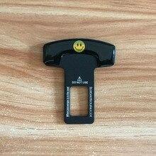 Smiley face Safety Belt Buckles Real Carbon Fiber Trucks Car Seat Safty Alarm Canceler Stopper for Honda accessories