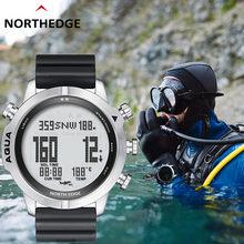 NORTH EDGE New Professional Diving Watch Men Altitude Pressure Compass Thermometer Deep Sea Sports 100M Waterproof Digital Clock