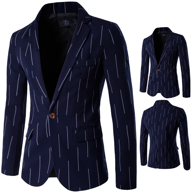 Aowofs Boutique England MEN'S Suit Thin Single Row Of A Buckle Service Hot Selling Recommended M-5xl D061