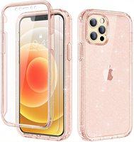 360 Full Body Schutz Telefon Coque Für iPhone 12 Mini 11 Pro Max X XS 7 8 Plus SE Fall luxus Glitter Bling Transparente Abdeckung