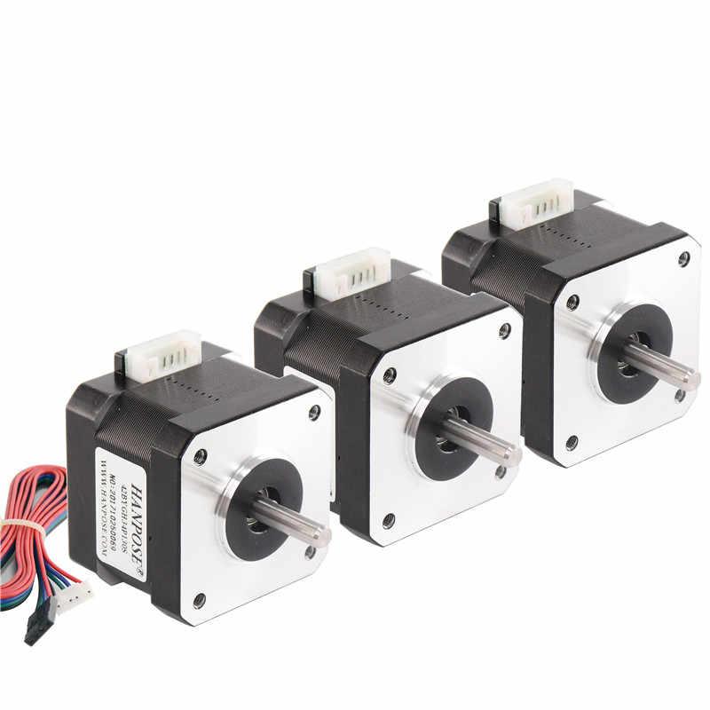 ¡10 unids/lote Nema17 para 0.4A 2800g! cm 34mm de longitud 17HS3430 17 motor paso a paso de 4 Plomo para 17 Motor paso a paso Nema 3d-impresora 12V