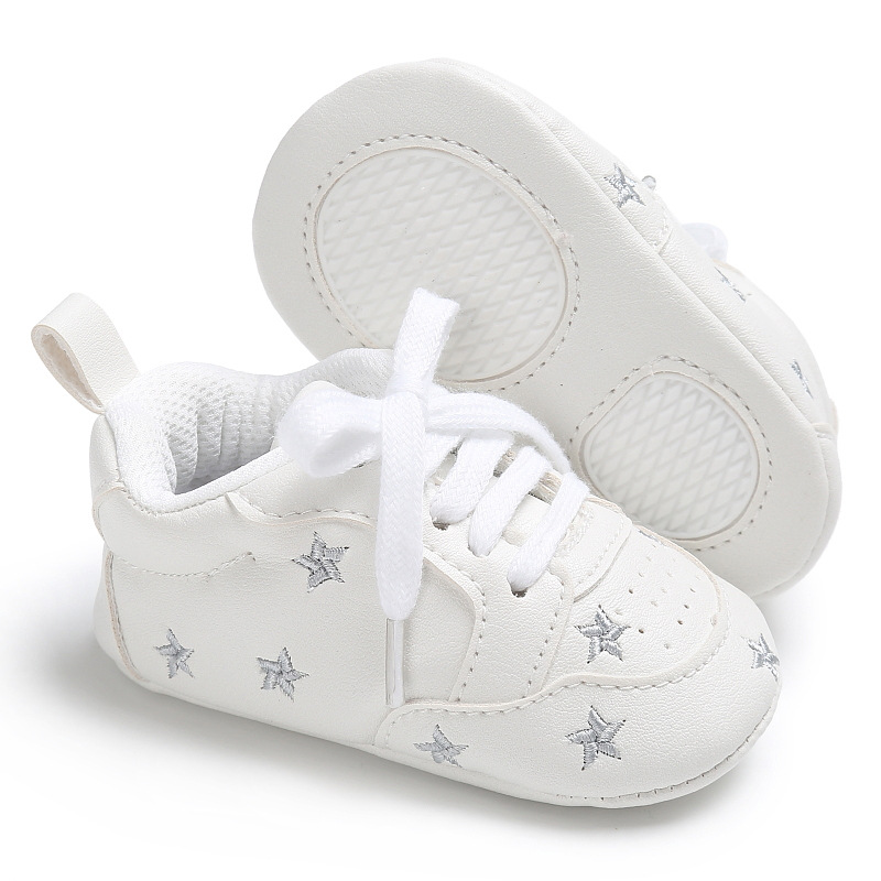 Casual Baby Shoes Infant Baby Girl Crib Shoes Cute Soft Sole Prewalker Sneakers Walking Shoes Toddler First Walker 4
