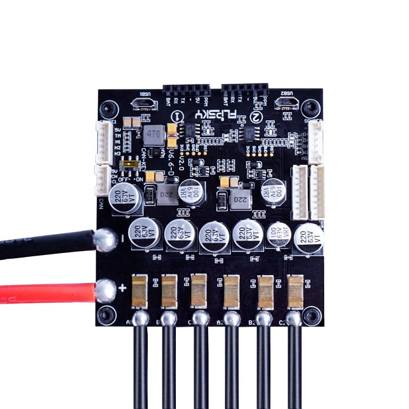 Double FSESC6.6 avec dissipateur thermique en aluminium Mini taille projet Open Source adapté avec le logiciel VESC6 contrôleur de vitesse électronique Flipsky