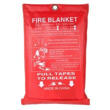 1 м x 1 м герметичное противопожарное одеяло для домашней безопасности противопожарный тент для пожаротушения лодки аварийное спасательное противопожарное укрытие защитное покрытие
