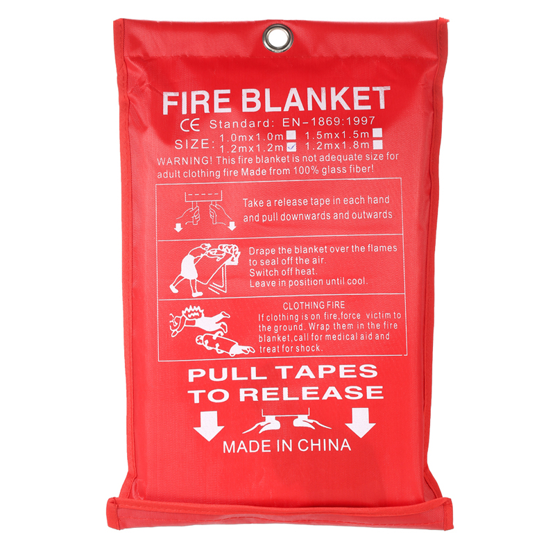 Sealed-Fire-Blanket Tent FIRE-SHELTER Safety-Cover Fighting Emergency-Survival 1m-X-1m title=