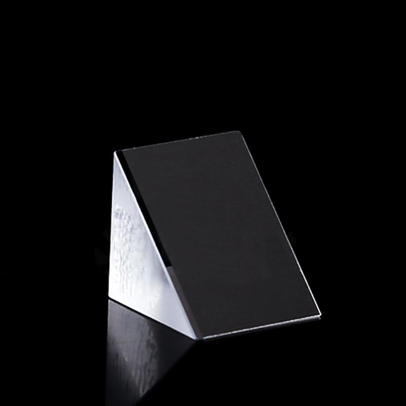 0.59*0.59*0.59in 1pcs 15*15*15mm Right Angle K9 Triangular Slop External Reflecting Prism Lens Side Aluminized Optical Mirror