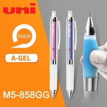 1個ユニクールー利賀M5 858GG抗疲労鉛コア自動回転鉛筆0.5ミリメートルソフトハンドグリップ学生筆記試験