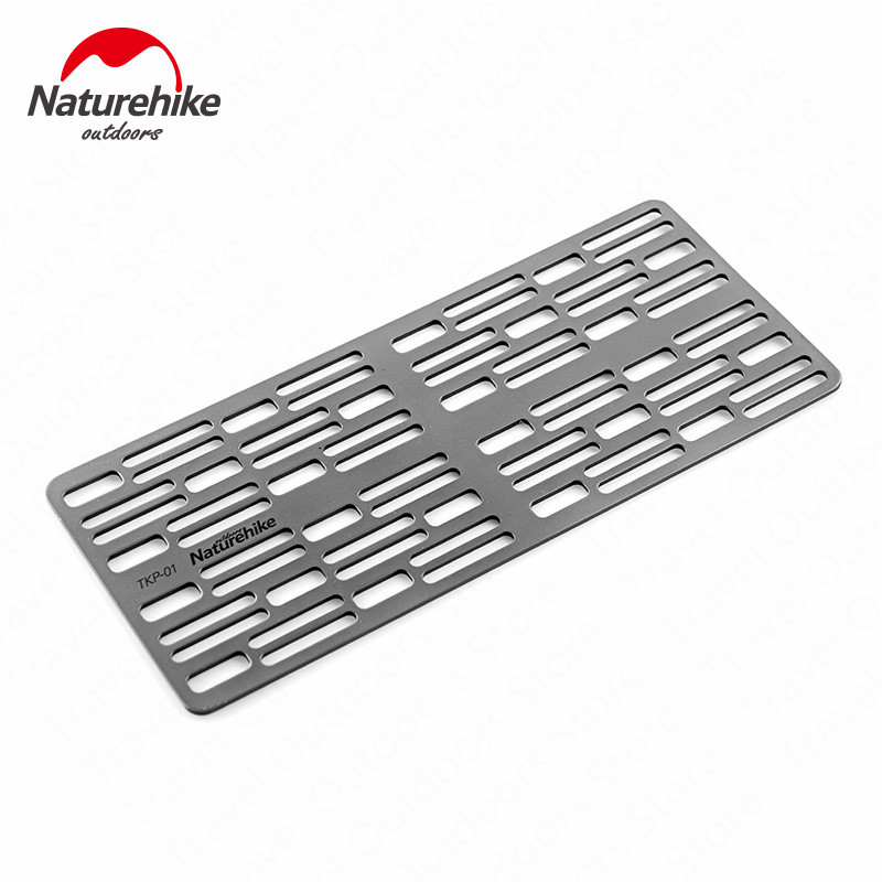 Naturehike Barbecue Titanium Alloy Grill Camping Ultralight BBQ Tool Portable Picnic Baking Tray Home Barbecue Outdoor Hiking