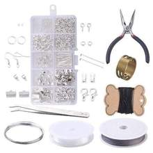 Earrings DIY Set Box Jewelry Making Starter Kit Set for Earrings Bracelet Necklace Findings DIY Crafting