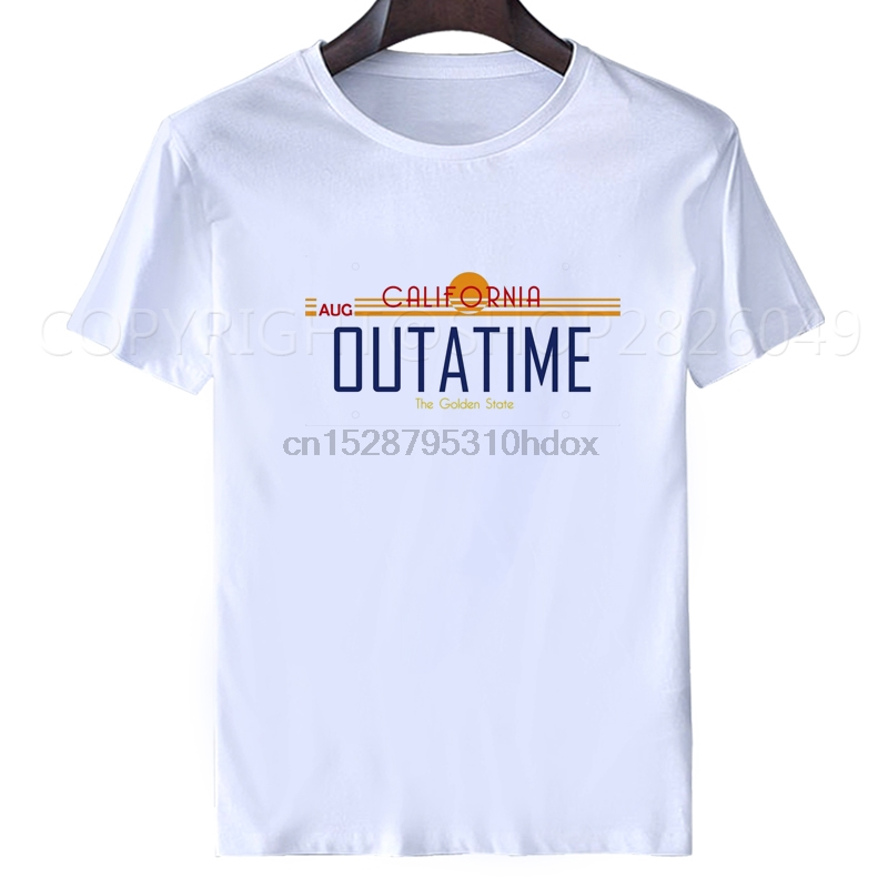 Back to the Future OUTATIME LICENSE PLATE Licensed Adult T-Shirt All Sizes
