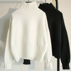 High Quality 2020 Autumn Winter Turtleneck Pullover Sweater Women Slim Knitted Sweaters Jumpers Female Soft White Black Sweater