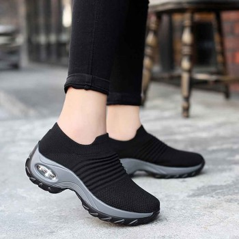 Women walking sock sneakers female thick bottom platform shoes woman running sport mesh shoes air cushion women's sneakers #1122