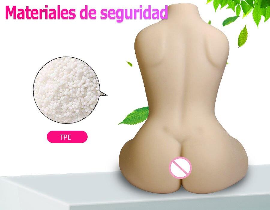 Hf12f486b04a04d48805b7d6865f2c8dcX Muñeca sexual realista para hombres adultos, maniquí con Vagina Real, de goma, Anal, Media cuerpo, a la moda, productos calientes para masturbación masculina, 3D