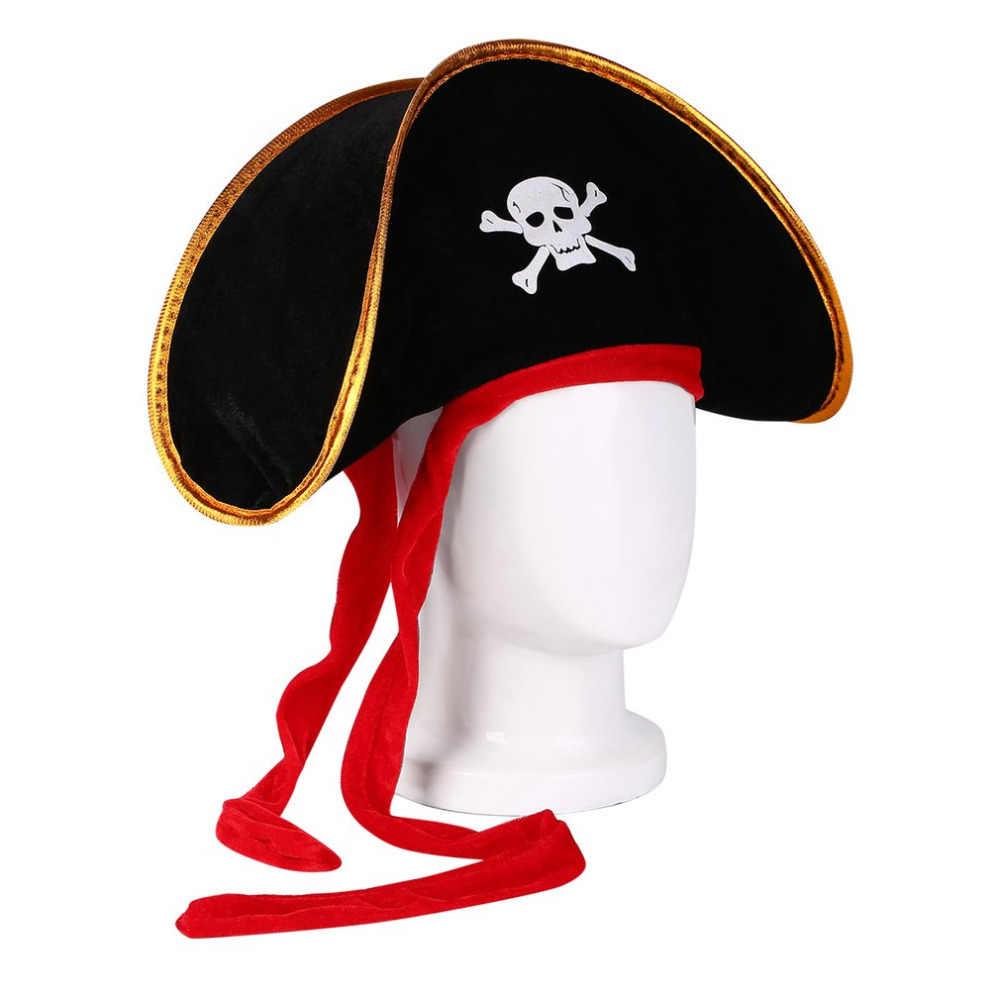 Cadılar bayramı aksesuarları kafatası şapka karayip korsan şapkası kafatası şapka korsan kap Corsair kap parti malzemeleri kostüm süslü elbise parti