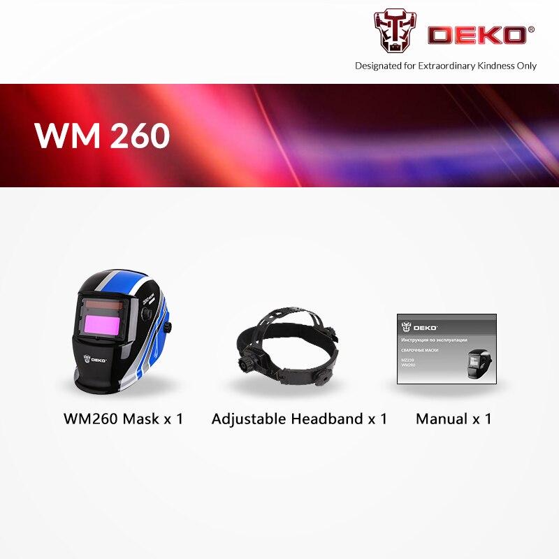 Deko wm260 máscara de solda elétrica capacete soldador para máquina de solda - 3