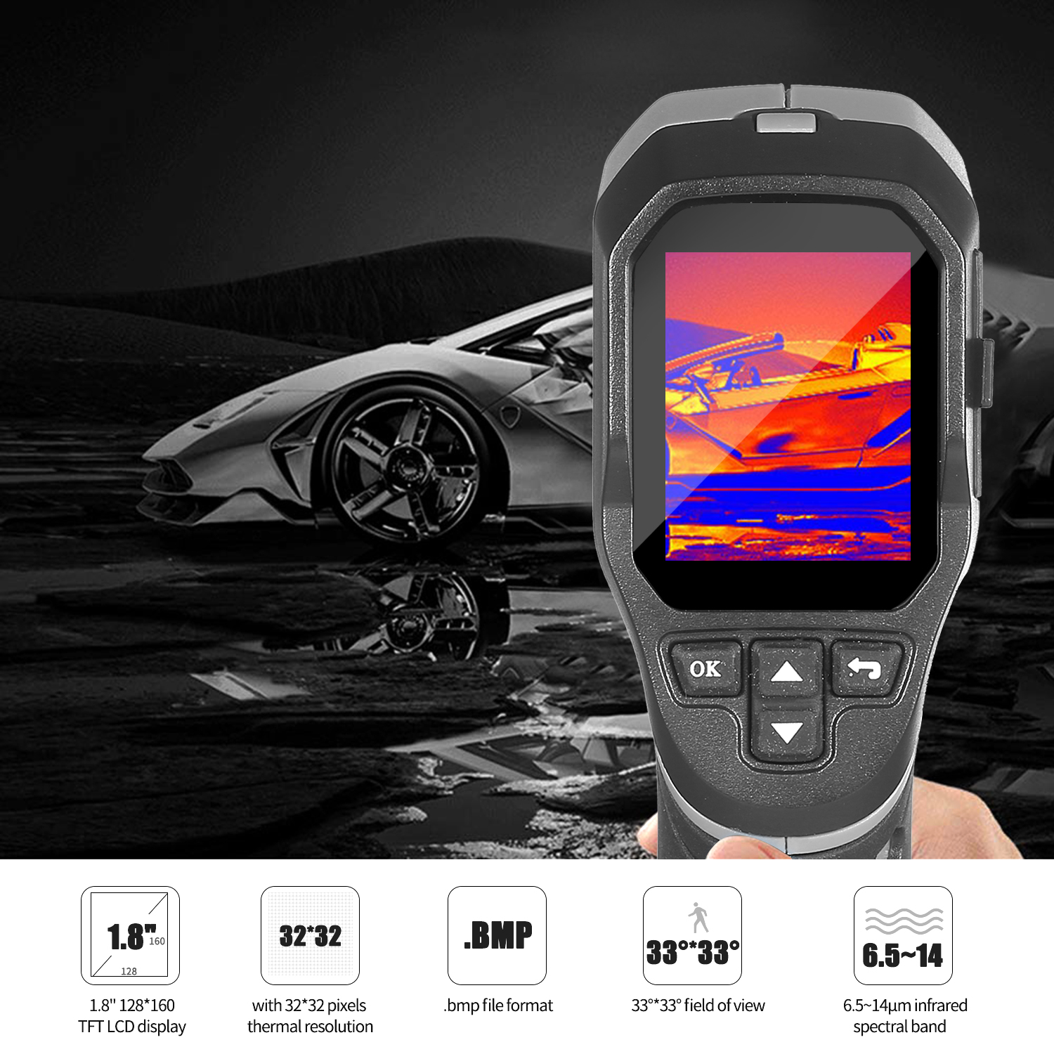 Mini Handheld Thermal Camera TFT Imaging Devices With LCD Display For Imaging Camera 1