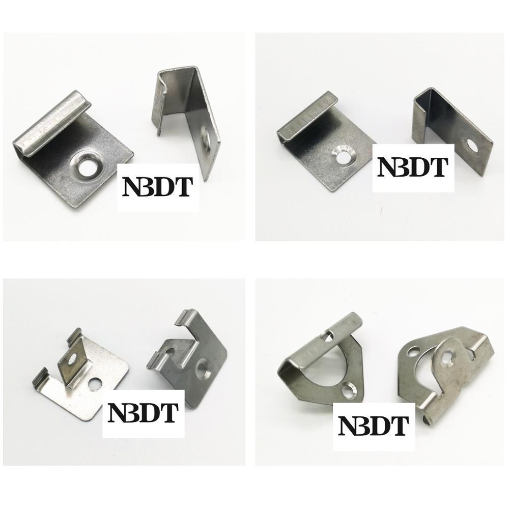 100Pcs 304 Stainless Steel Grooved WPC Flooring Composite Decking Starter Clip Deck Fastener