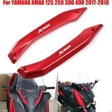 Para yamaha xmax 300 X-MAX 125 xmax 250 xmax 400 2017 2018 motocicleta pára-brisas defletores conjunto suporte protetor
