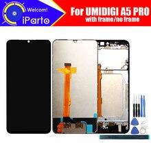 Umidigi a5 pro display lcd + digitador da tela de toque 100% original testado painel vidro da tela lcd para a5 pro ferramentas adesivo