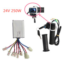 Electric Scooter Accessories Motor Brushed Controller & Throttle Twist Grip 24V 250W For Electric Scooter Bicycle Bike dc 24v electric motor brushed 250w 2750rpm 2 wired chain for e bike scooter