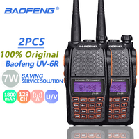 ham cb רדיו 2pcs Baofeng UV6R מכשיר הקשר 7W UHF & VHF CB רדיו Dual Band UV 6R המקצוען UV6R משדר Hf Ham Radio משדר PTT (1)