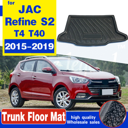 High Quality Rear Trunk Cargo Mat Floor Tray Boot Liner Waterproof For JAC Refine S2 2015~2019 T4 T40 Protective Pad Auto part