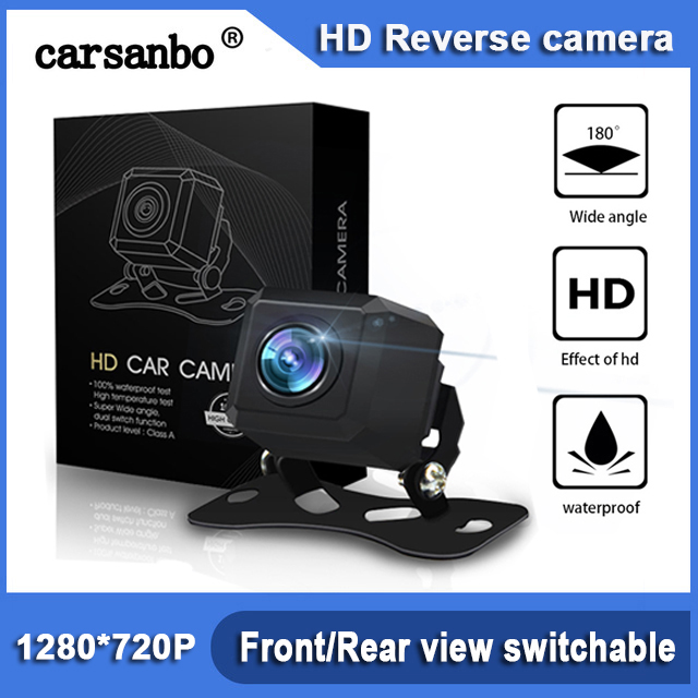 Rearview-Camera Car-Reverse-View Fish-Eye Wide-Angle Front-View 180-Degree 720P Waterproof