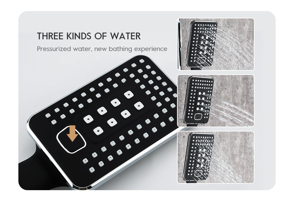 Hf130198ea1ab41abace064e3663fb66dw Frap Bathroom Faucet Black Rain Shower Head Faucet Wall Mounted Bathtub Shower Mixer Tap Shower Faucet Shower Set Mixer F2457